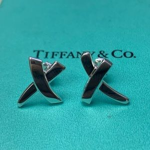 "Tiffany & Co Paloma Picasso  ""X""  Earrings NWOT"